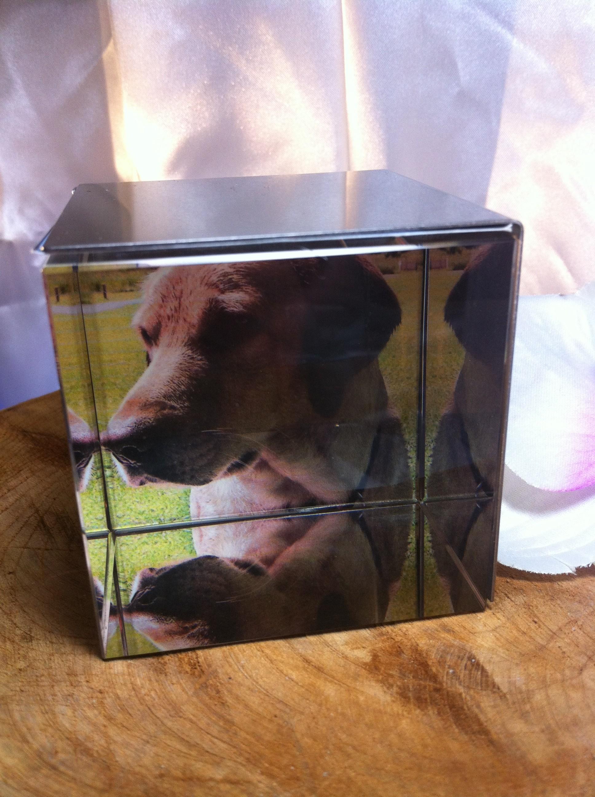 Kristallwürfel-Fotorahmen - Pigmentum Urnen