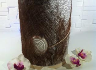 Urne mit Palmenfasern seitlich